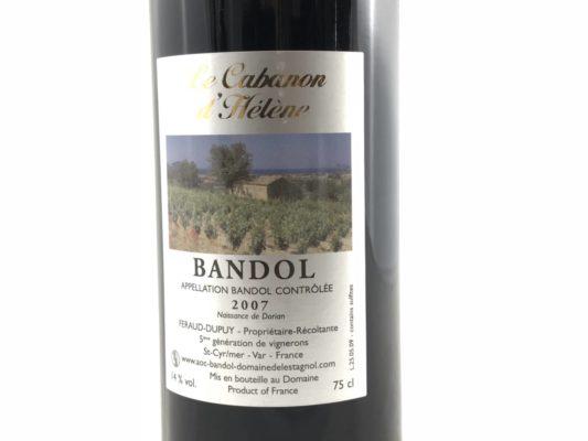 Le Cabanon d'Hélène vin de Bandol Rouge 2007