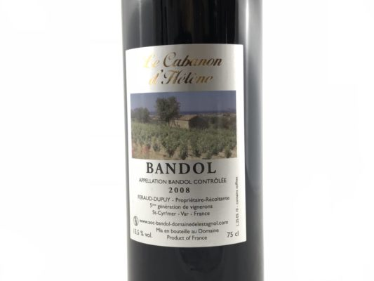 Bouteille Bandol Rouge 2008 Domaine Espagnol Cabanon d'Hélène