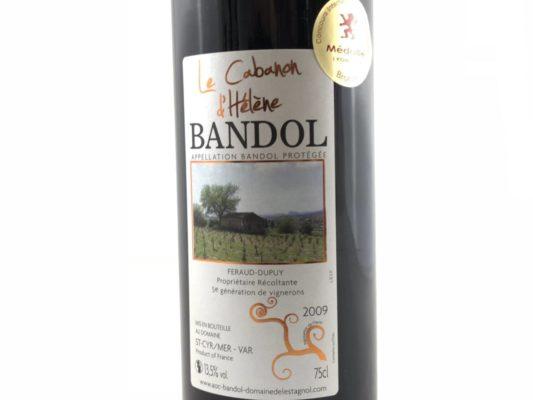 Vin rouge Bandol 2009 médaille Bronze Macon