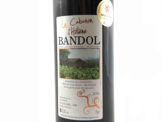 Bandol Rouge 2010 médaille bronze macon Sandrine Féraud Le cabanon d'Hélène