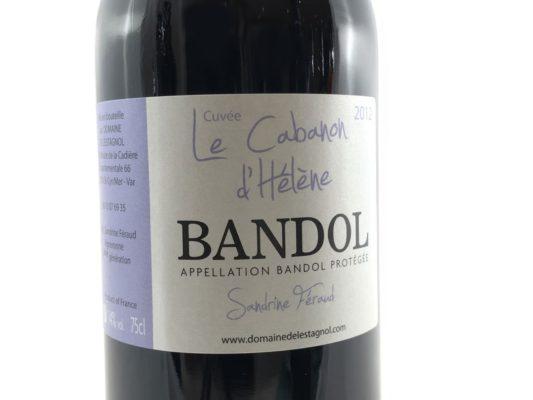 Bandol vin Rouge Domaine de l'Estagnol 2012