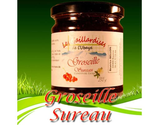 Confiture Groseille Sureau Les Gaillardises de l'Ubaye