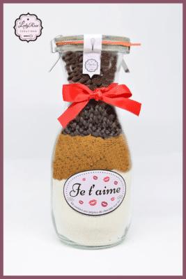 Je t'aime - Préparation cookies pépites de chocolat noir bio par Leely Rose Créations