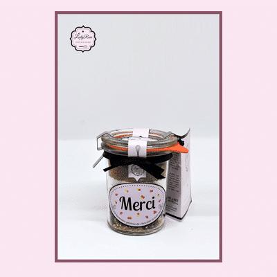 Merci - Mini préparation brownies aux pépites de chocolat et noix bio par Leely Rose Créations