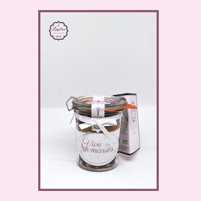 Vive les mariés - Mini préparation brownies aux pépites de chocolat et noix bio par Leely Rose Créations