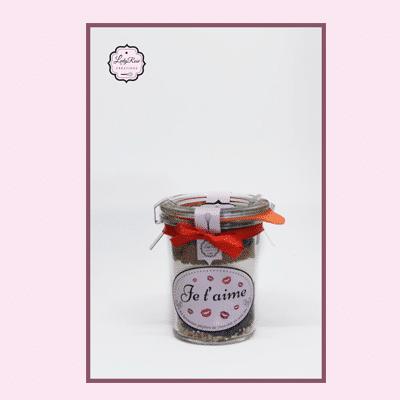Je t'aime - Mini préparation brownies bio aux pépites de chocolat et noix par Leely Rose Créations