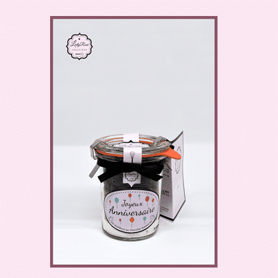 Joyeux anniversaire - Mini préparation moelleux au chocolat maison bio par Leely Rose Créations