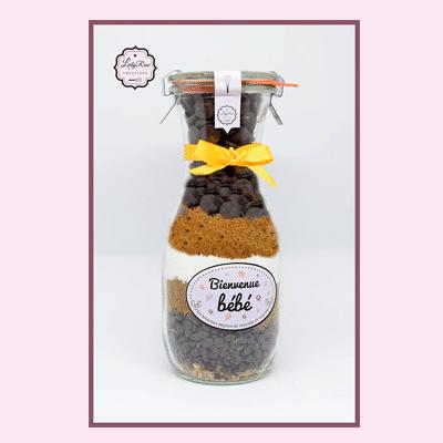 Bienvenue bébé - Préparation brownies aux pépites de chocolat et noix bio par Leely Rose Créations