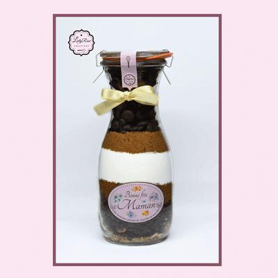 Bonne fëte maman - Préparation brownies bio aux pépites de chocolat et noix par Leely Rose Créations