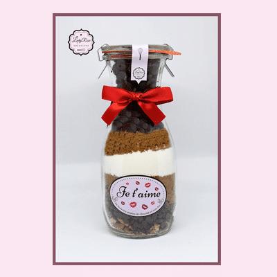 Je t'aime - Préparation brownies aux pépites de chocolat et noix bio par Leely Rose Créations