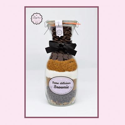 brownies aux pépites de chocolat et noix bio par Leely Rose Créations