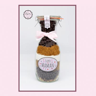 Super Maman - Préparation brownies aux pépites de chocolat et noix bio par Leely Rose Créations