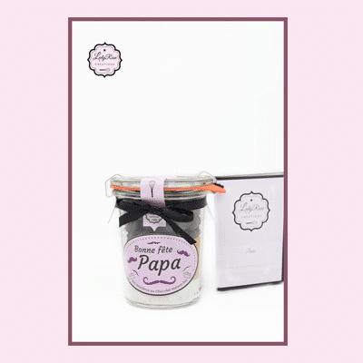Bonne fête papa - Mini préparation moelleux au chocolat maison bio par Leely Rose Créations