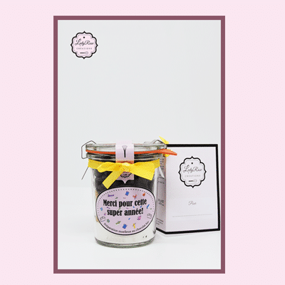 Merci pour cette super année - Mini préparation moelleux au chocolat maison bio par Leely Rose Créations
