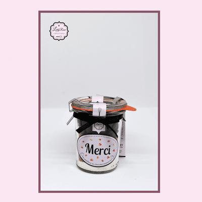Merci - Mini préparation moelleux au chocolat maison bio par Leely Rose Créations