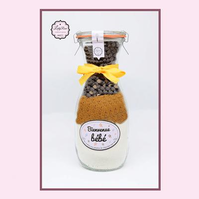 Bienvenue bébé - Préparation cookies pépites de chocolat noir bio par Leely Rose Créations